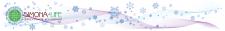 сезонный логотип на фоне под зимний период на сайт