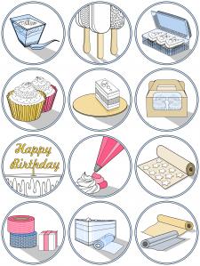 """Іконки для інтернет-магазину """"Десерт Пак"""""""