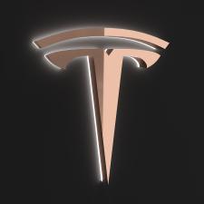 Визуализация логотипа теслы