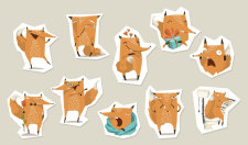Stickers set for messenger
