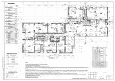 АР. Стадия Р. План 1 эт. жилого 24-этажного дома