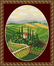 """Схема для вышивки крестом """"Tuscany"""""""