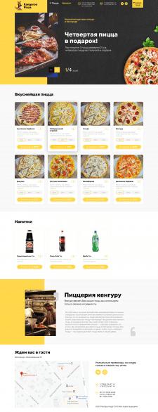Адаптивная верстка - Кенгуру Пицца