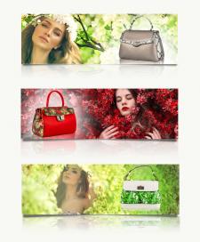 Баннеры  для интернет-магазина женских сумок