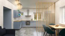 Дизайн кухни-гостиной 33м2 в частном доме