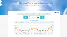 Погода в Казахстане из Норвегии