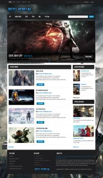 HTML-шаблон для игрового портала