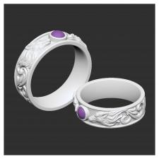 """3D модель кольца """"Волки"""""""