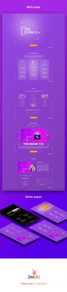Дизайн сайта веб-студии TheRoom13's