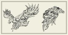 Graphic eagles