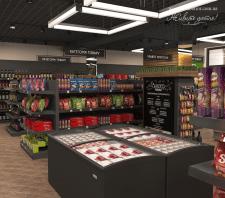Дизайн интерьера супермаркета г. Бровары