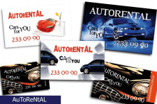 Дизайн рекламной визитки AUTORENTAL