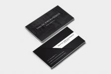 Создание визитки для Фотографа из Дубаи