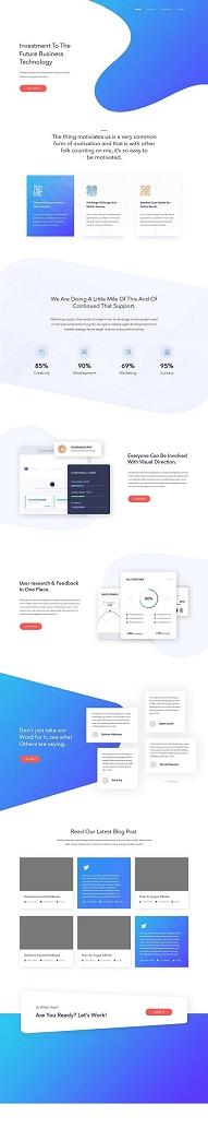 Векторный дизайн сайта