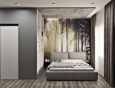 Дизайн спальни в стиле LOFT