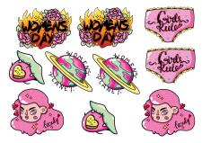 Насклейки/Стикеры/Stickers