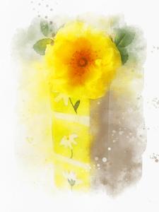 Цифровая живопись, акварельные цветы
