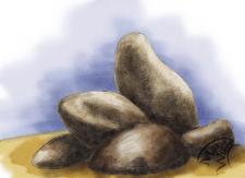 рисунок карандашом + цифровая акварель