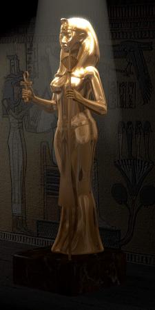 Статуя египетской царицы