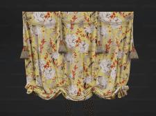 Римская штора с кистями
