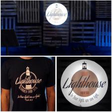 Lighthouse camp, лайтбокс, футболки