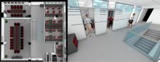 проектировка и визуализация мебели для банка
