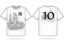 Принт на футболку для NY