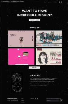 Проект дизайна сайта-порфолио