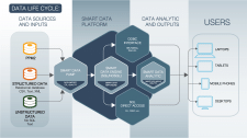 Data Life Cycle infographics