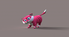 Cat 3d model with Rig