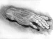 Рисунок гипсовой руки
