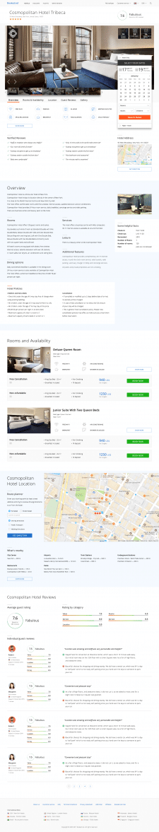 Booked.net - Hotel Page Redesign