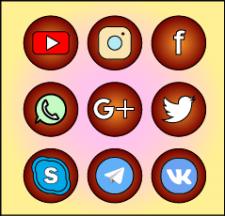 Иконки соц сетей