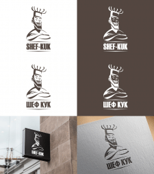 Логотип на конкурс для SHEF-KUK