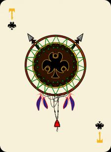 Spielkarten Indians- Farbig17