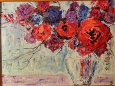 Букет (интерьерная живопись)