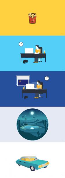 иллюстрация, иконки