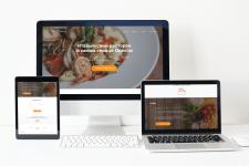 Дизайн лендинг страницы для ресторана