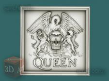 """3D-модель stl для ЧПУ """"Queen"""" - панно"""