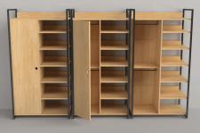 Module armoire 1 porte penderie 6 etaeres