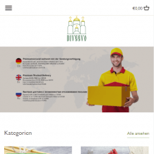 Shopify интернет-магазин Diveevo.de