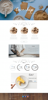 Landing page for Cocochip bakery