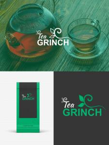 """Логотип для упаковки """"Grinch Tea"""""""