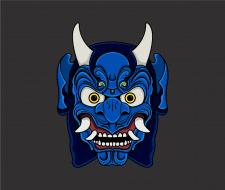 "Japenese mask ""Blue demon"""
