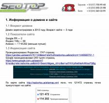 Полный аудит сайта запчастей Razborka.ua