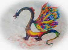 """дракон 1 для """"Бестиария"""" Х.Л.Борхеса"""