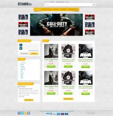 Сайт по продаже цифровых ключей для Steam