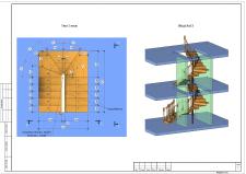 Создание 3D модели в Revit внутренней лестницы