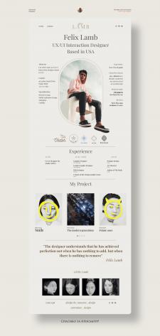 Felix Lamb англоязычный сайт - визитка