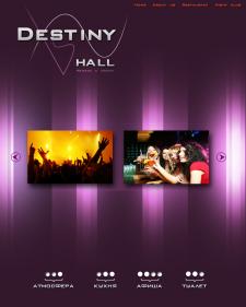 Макет сайта, для ночного клуба